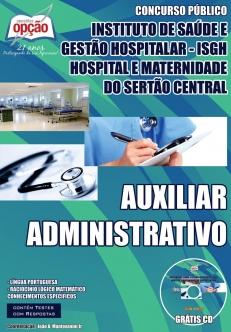 Instituto de Saúde e Gestão Hospitalar (ISGH)-AUXILIAR ADMINISTRATIVO