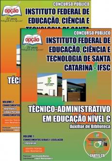 Instituto Federal de Educação, Ciência e Tecnologia de Santa Catarina (IFSC)-TÉC ADMINISTRATIVO EM EDUCAÇÃO – AUXILIAR DE BIBLIOTECA-TÉC ADMINISTRATIVO EM EDUCAÇÃO – ASSISTENTE DE ALUNOS
