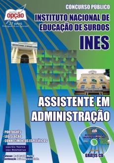 Instituto Nacional de Educação de Surdos - INES / RJ-ASSISTENTE EM ADMINISTRAÇÃO