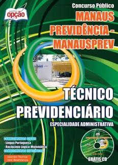 Manaus Previdência (MANAUSPREV)-TÉCNICO PREVIDENCIÁRIO – ESPECIALIDADE ADMINISTRATIVA