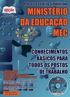Ministério da Educação (MEC)-CONHECIMENTOS BÁSICOS PARA TODOS OS POSTOS DE TRABALHO