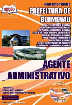 Prefeitura de Blumenau / SC-AGENTE ADMINISTRATIVO