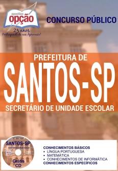 Prefeitura de Santos / SP-SECRETÁRIO DE UNIDADE ESCOLAR-INSPETOR DE ALUNOS