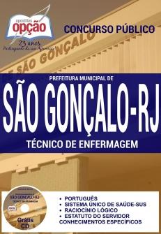 Prefeitura de São Gonçalo / RJ-TÉCNICO DE ENFERMAGEM-AUXILIAR DE INFRAESTRUTURA-AGENTE DE SAÚDE AMBIENTAL