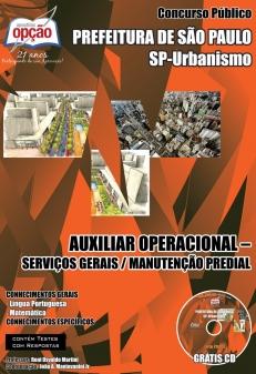Prefeitura de São Paulo Urbanismo-AUXILIAR OPERACIONAL