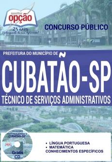 Prefeitura do Município de Cubatão / SP-TÉCNICO DE SERVIÇOS ADMINISTRATIVOS-TÉCNICO DE RH-AUXILIAR DESPORTIVO