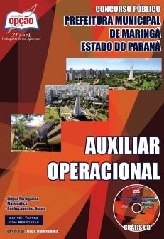 Prefeitura do Município de Maringá / PR-AUXILIAR OPERACIONAL-AUXILIAR EDUCACIONAL-AGENTE ADMINISTRATIVO