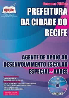 Prefeitura do Recife-AGENTE DE APOIO AO DESENVOLVIMENTO ESCOLAR ESPECIAL - AADEE
