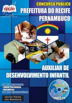 Prefeitura do Recife-AUXILIAR DE DESENVOLVIMENTO INFANTIL-AGENTE ADMINISTRATIVO ESCOLAR