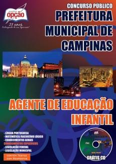 Prefeitura Municipal de Campinas / SP-AGENTE DE EDUCAÇÃO INFANTIL