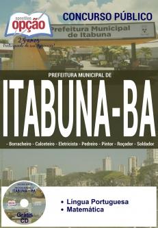 Prefeitura Municipal de Itabuna / BA-CARGOS DE NÍVEL FUNDAMENTAL I-CARGOS DE NÍVEL FUNDAMENTAL COMPLETO