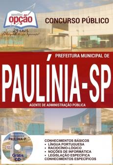 Prefeitura Municipal de Paulínia / SP-AGENTE DE FISCALIZAÇÃO-AGENTE DE DESENVOLVIMENTO INFANTIL-AGENTE DE CONTROLE DE VETOR-AGENTE DE ADMINISTRAÇÃO PÚBLICA