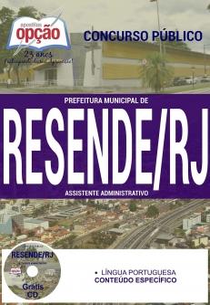 Prefeitura Municipal de Resende / RJ-GUARDA MUNICIPAL-ASSISTENTE ADMINISTRATIVO-AGENTE DE PROGRAMAS SÓCIO-CULTURAIS E DESPORTIVOS