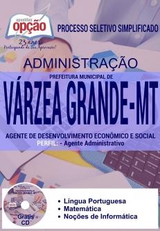 Prefeitura Municipal de Várzea Grande / MT (Administração)-ADES - AGENTE ADMINISTRATIVO