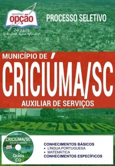 Processo Seletivo Município de Criciúma 2017-AUXILIAR DE SERVIÇOS