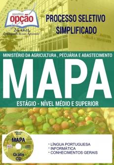 Processo Seletivo Simplificado MAPA 2017-ESTÁGIO - NÍVEL MÉDIO E SUPERIOR