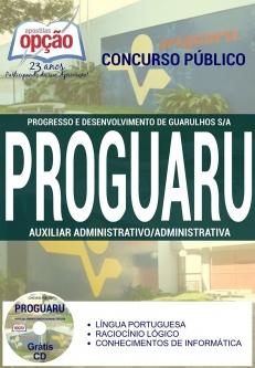 PROGUARU-AUXILIAR DE SERVIÇOS GERAIS-AUXILIAR ADMINISTRATIVO / ADMINISTRATIVA-ASSISTENTE DE DEPARTAMENTO PESSOAL