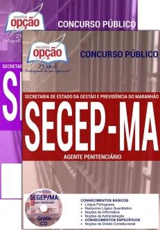 Secretaria de Estado da Gestão e Previdência – SEGEP/MA-AGENTE PENITENCIÁRIO