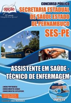 Secretaria Estadual de Saúde do Estado de Pernambuco (SES/PE)-ASSISTENTE EM SAÚDE – TÉCNICO DE ENFERMAGEM