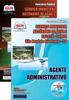 SeMAE - São José do Rio Preto / SP-AGENTE ADMINISTRATIVO