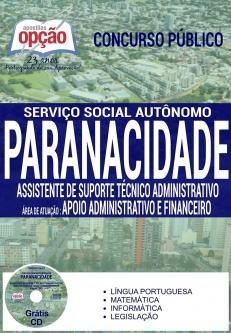 Serviço Social Autônomo PARANACIDADE-ASS. DE SUPORTE TÉCNICO ADM - APOIO ADM E FINANCEIRO