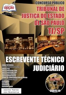 Tribunal de Justiça do Estado / SP (TJ/SP)-ESCREVENTE TÉCNICO JUDICIÁRIO