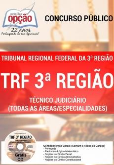 Tribunal Regional Federal da 3ª Região (TRF)-TÉCNICO JUDICIÁRIO (TODAS AS ÁREAS/ESPECIALIDADES)-ANALISTA JUDICIÁRIO - ÁREA ADMINISTRATIVA
