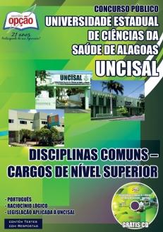 UNCISAL-DISCIPLINA COMUNS – CARGOS DE NÍVEL SUPERIOR