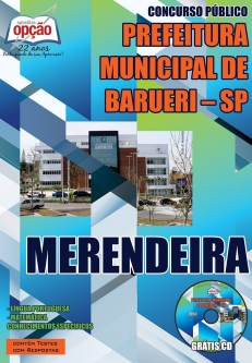 Prefeitura Municipal de Barueri / SP-MERENDEIRA-ASSISTENTE DE MATERNAL FEMININO