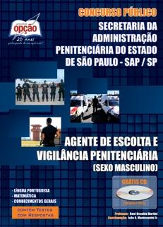 SAP/SP-AGENTE DE ESCOLTA E VIGILÂNCIA PENITENCIÁRIA