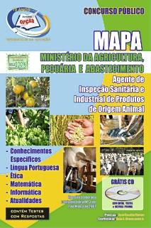 Ministério da Agricultura, Pecuária e Abastecimento-AGENTE DE INSPEÇÃO
