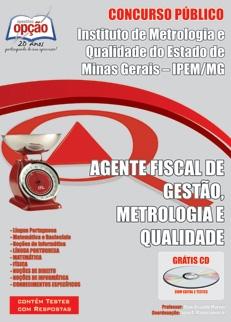 IPEM/MG-AGENTE FISCAL DE GESTÃO, METROLOGIA E QUALIDADE
