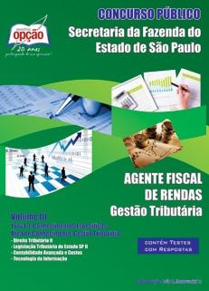 SEFAZ - Secretária da Fazenda-AGENTE FISCAL DE RENDAS - VOLUME III