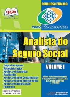 INSS - Instituto Nacional do Seguro Social-ANALISTA DO SEGURO SOCIAL - VOLUME I