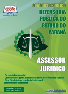 Defensoria do Estado do Paraná-ASSESSOR JURÍDICO