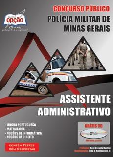 Polícia Militar do Estado de Minas Gerais-ASSISTENTE ADMINISTRATIVO