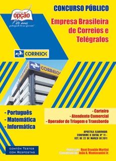 Correios-ATENDENTE COMERCIAL, CARTEIRO,OPERADOR DE TRIAGEM E TRANSBORDO