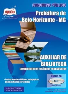 Prefeitura de Belo Horizonte - MG-AUXILIAR DE BIBLIOTECA