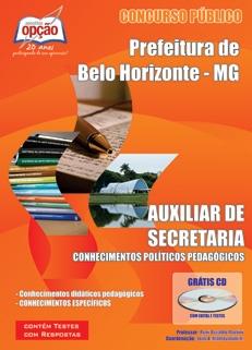 Prefeitura de Belo Horizonte - MG-AUXILIAR DE SECRETARIA-AUXILIAR DE BIBLIOTECA