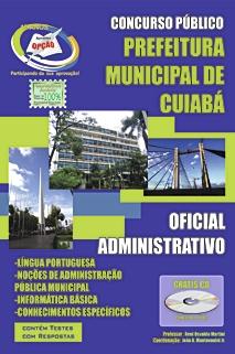 Prefeitura de Cuiabá/MT-CUIABÁ/MT - OFICIAL ADMINISTRATIVO-CUIABÁ/MT - AGENTE DE MANUTENçãO, MOTORISTA E VIGILANTE
