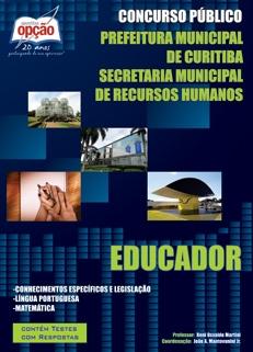 Prefeitura Municipal de Curitiba-EDUCADOR (EDUCAÇÃO INFANTIL)
