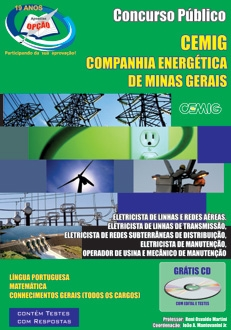 COMPANHIA ENERGÉTICA DE MINAS GERAIS - CEMIG-ELETRICISTA/OPERADOR/MECÂNICO