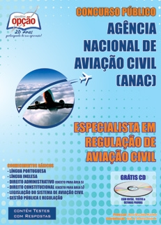 ANAC - Ag. Nacional de Aviação Civil-ESPECIALISTA EM REGULAÇÃO DE AVIAÇÃO CIVIL