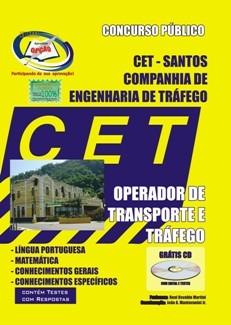 CET - SANTOS-OPERADOR DE TRANSPORTE E TRÁFEGO-FISCAL DE TERMINAL-AUXILIAR DE ADMINISTRAÇÃO-AJUDANTE DE MANUTENÇÃO  E APOIO