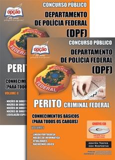 POLÍCIA FEDERAL / PERITO-PERITO CRIMINAL FEDERAL - JOGO COMPLETO