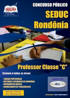 SEDUC - Rondônia-PROFESSOR CLASSE C