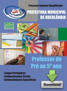 UBERLÂNDIA - MG-PROFESSOR DE PRÉ AO 5º ANO