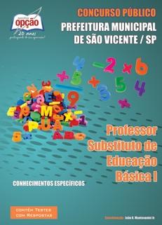 Prefeitura de São Vicente - SP-PROFESSOR SUBSTITUTO DE EDUCAÇÃO BÁSICA I