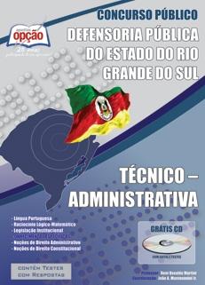 DPE - Rio Grande do Sul-TÉCNICO - ADMINISTRATIVA-ANALISTA - PROCESSUAL