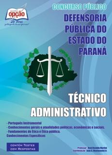 Defensoria do Estado do Paraná-TÉCNICO ADMINISTRATIVO-ASSESSOR JURÍDICO